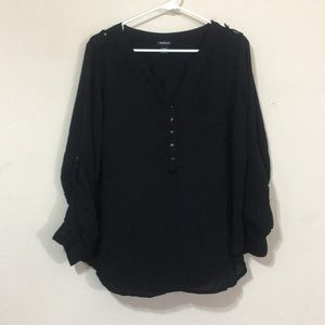 Torrid black blouse